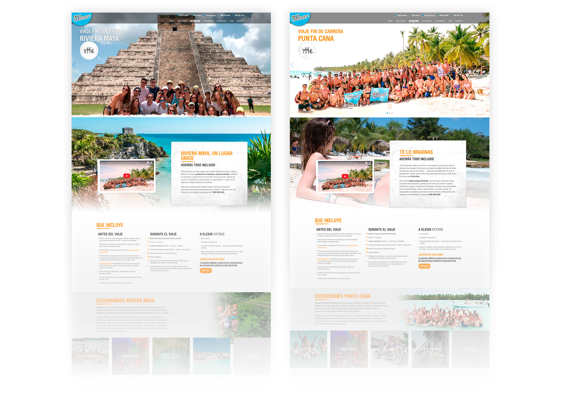 Diseño web para Only University