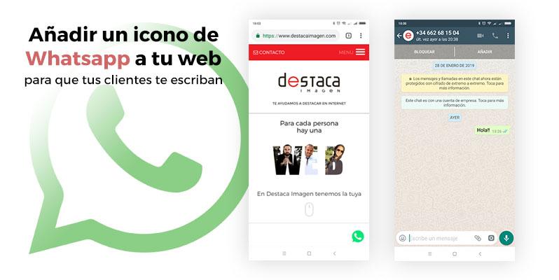 Añadir un icono de Whatsapp a tu web para que tus clientes te escriban