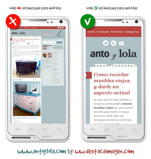 Diferencias de una web optimizada para moviles y tablets